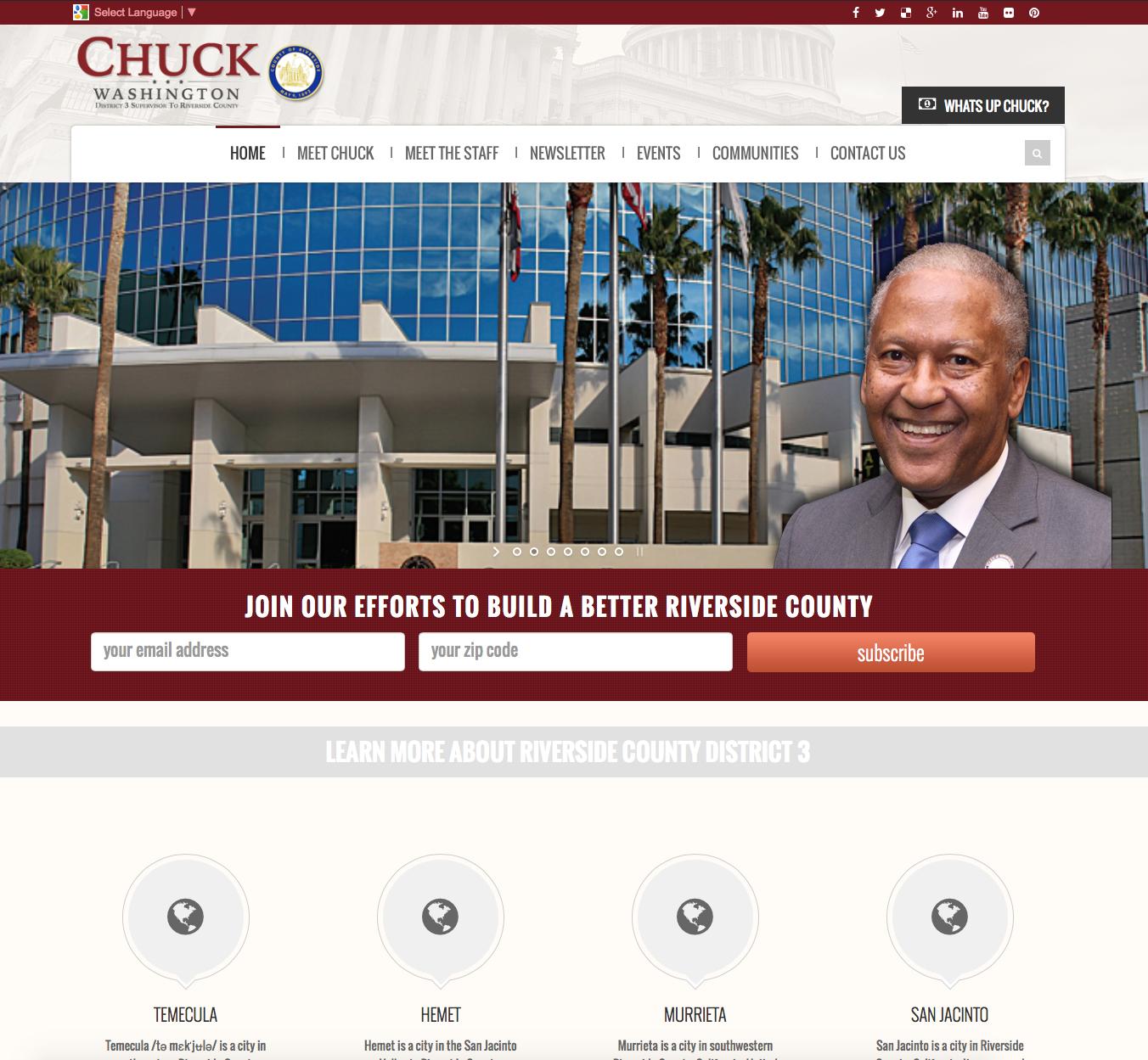SupervisorChuckWashington.com